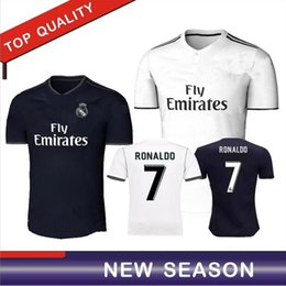 2018 Real Madrid home away jersey 18 19 Ronaldo Soccer jersey MODRIC LUCAS  V MORATA BALE KROOS ISCO BENZEMA Football clothing 28b892461