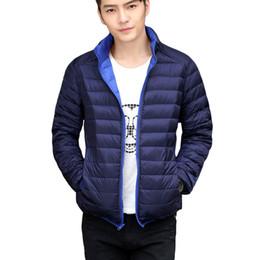 Wholesale Reversible Down Jacket - 2017 Winter Duck Down Jacket men Ultra Light Down Jackets Reversible two side wear men jacket Winter Coat
