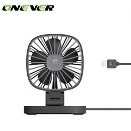 2019 cooler 5v Onever Mini USB Car Fan 5 V 360 Graus de Rotação USB Alimentado Baixo Ruído Ventilador Elétrico Cooler Verão Para O Caminhão Do Carro desconto cooler 5v