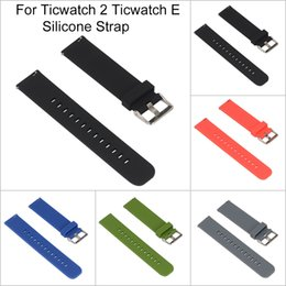 reemplazar reloj Rebajas Nueva correa de muñeca de la correa de reloj de silicona de repuesto cómodo a estrenar para Ticwatch 2 Reloj elegante de Ticwatch E Reemplace la correa de reloj