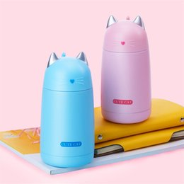Wholesale Thermos Kids Water Bottle - 330ml New Thermos Cup Cute Cartoon Cat Thermo Mug Drinkware Kids Water Bottle Stainless Steel Vacuum Leak-proof Insulation Cup