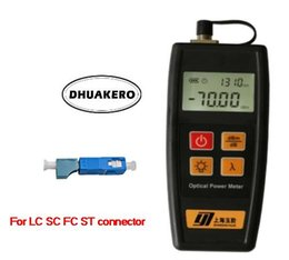 Wholesale Fc Adapters - free shipping AB22B YJ350A C mini small FTTH Fiber Optical Power Meter -70 + 10dBm FC SC LC ST connectors with SC-LC adapter