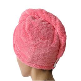 2019 toalhas de microfibra cabelo seco HELLOYOUNG Mulheres Banheiro Super Absorvível de Secagem Rápida de Microfibra Toalha de Banho Cap Seco Do Cabelo Salão Toalha 25x65 cm toalhas de microfibra cabelo seco barato