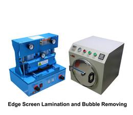Wholesale Wholesale Bubble Machines - New Edge Repair Machine OCA Vacuum Laminating & Mini Bubble Remover For Cracked LCD OLED Glass Repair Fix