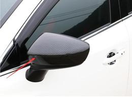 2019 vw cc fibre de carbone Haute qualité Nouveau En Fiber De Carbone Impression Porte Mirror Cover Trim case pour Mazda 6 atenza 2017 voiture style