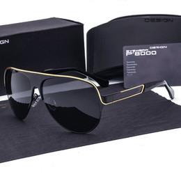 Wholesale Aluminum Magnesium Alloy Sunglasses - Brand Designer Aluminum Magnesium Polarized Sunglasses Men Driving Sun Glasses Goggles Eyewear for Male oculos 8580 with cases and box