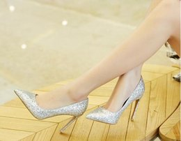 Wholesale Sexy Silver Prom Heels - luxury sandals Spring summer new Fashion high heeled party prom sexy gold Roman style red carpet catwalk crystal diamond wedding shoes