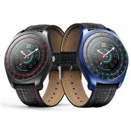 2018 V10 Smart Watch мужчины с камерой Smartwatch шагомер монитор сердечного ритма Sim-карты наручные часы для Android телефон от