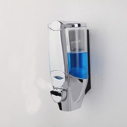 Новый ABS Настенный Сенсорный Дозатор Мыла Дезинфицирующее Средство Для Душа Шампунь Диспенсер для бутылок аксессуары для ванной 450 мл supplier shower soap dispensers от Поставщики диспенсеры для душа