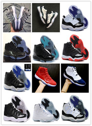 Wholesale Cheap Multi Gyms - Cheap XI 11s LOW Cool Grey Easter Bred Basketball Shoes 11 Prom Night Cap and Gown 11 Gym red Midnight navy Concord Sports Sneaker athletics