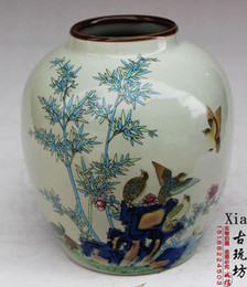 Wholesale Traditional Chinese Ceramics Porcelain - Antique collection of Jingdezhen porcelain in the Qing Emperor Qianlong of the pastel flower vase