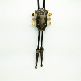 Wholesale Guitar Clothes - Poirot cowboy bronze country guitar tie zinc alloy wear-resistant high-grade fashion clothing accessories