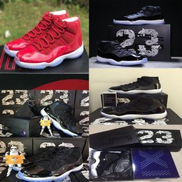 Wholesale Patent Quality - AAA+ quality air retro 11 mens basketball shoes top quality low&high red Heiress sneaker black& blue heiress athletic discount sport shoes