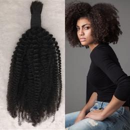 Cheveux bouclés en vrac en Ligne-Cheveux en vrac mongole Weave Extensions en vrac de cheveux naturels bouclés de couleur naturelle 8-26 pouces En Stock FDSHINE