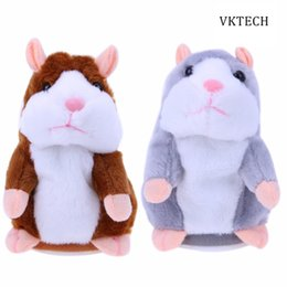 Wholesale Battery Stuffed Toy - Talking Hamster Electronic Pets Baby Stuffed Toys Plush Dolls Sound Record Speaking Hamster Talking Toy Toys for Children Gift