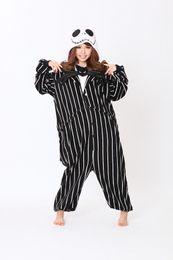 Argentina Novedad Cosplay Anime Jack Skellington Diseñador de esqueleto adulto Unisex Onesie fiesta de Halloween pijama más tamaño S- XL Suministro