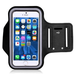 Armbands Women Men Practical Anti Slip Exercise Side Pocket Stretch Workout Phone Pouch Gym Armband Elastic Fitness Holder Sports Running Mobile Phone Accessories