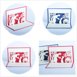 2019 cumprimentos do dia de mães Estilo europeu e americano do Dia das Mães 3D Saudações Criativas Cartões Handmade Cartões de Natal de Ação De Graças Pode ser Personalizado 10 * 15 cm cumprimentos do dia de mães barato