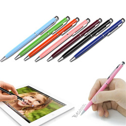 Canada 2 en 1 écran tactile capacitif écriture stylet stylo à bille pour iPhone iPad Samsung Tablet PC ASUS HTC Lenovo CellPhone Offre