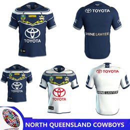 Wholesale Black Cowboys Jerseys - NORTH QUEENSLAND COWBOYS 2018 AWAY JERSEY 2017 New Zealand NRL Indigenous Camouflage Rugby jerseys Queensland Cowboys Rugby size S-3XL