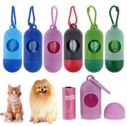 Wholesale Dog Pick Up - Dog Plastic Bags Portable Pet Dog Dispenser Garbage Case Included Pick Up Waste Poop Bags Pet Waste Bag Random Send