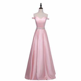 Wholesale Simple Elegant Dress Designs - Simple Design Cap Sleeve Elegant Evening Dress A-Line Design Free Shipping Pink Banquet Dress With Beads