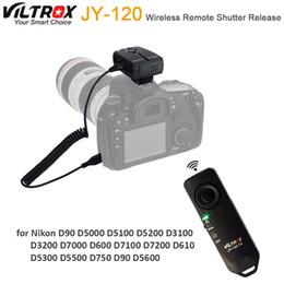Disparador inalámbrico de control remoto online-Viltrox JY-120-N3 Cámara Control remoto disparador inalámbrico para D3300 D3200 D5600 D5300 D5500 D7100 D7200 D750 DSLR