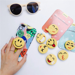 emoji iphone Coupons - DHL Silicone Emoji Phone Holder with retail package Real 3M glue Grip Stand 360 Degree Finger Holder Flexible For iPhone Samsung