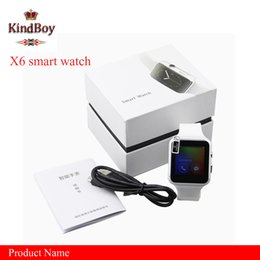 Wholesale Watch X6 - Smartwatch Curved Screen X6 Smart watch bracelet Phone with SIM TF Card Slot with Camera for Samsung android smartwatch