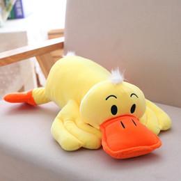 boné preto laranja Desconto Brinquedos de pelúcia Amarelo Papa Pato Boneca De Pelúcia Macia Animais Bonitos Travesseiro Bebê Dormindo Brinquedo Decoração do Quarto das Crianças Presentes de Aniversário