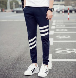 Wholesale Mens Green Sweat Pants - 2018 New Fashion Pants High Quality Pure Cotton Tracksuit Bottoms Mens Joggers Sweat Pants Men Casual Pants M-5XL