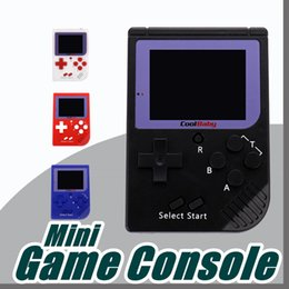 Wholesale Lcd Portable Game Console - DHL CoolBaby RS-6 Portable Retro Mini Handheld Game Console Color LCD Game Player For FC Game A-ZY