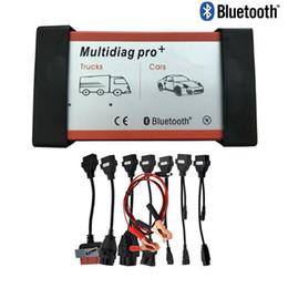 Cdp pro bluetooth online-DHL Multidiag Pro + 2015.R3 Bluetooth per auto camion obd OBD2 Scanner VD TCS cdp pro strumento diagnostico + pieno 8 cavi auto