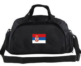 Wholesale Play Boy Men - Serbia duffel bag Play portable tote Country banner cool backpack New exercise luggage Sport shoulder duffle Flag sling pack