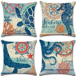 Serie mare federe cavalluccio marino polpo cuscino decorativo divano auto federa casa arredamento 18