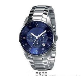 Wholesale watches original box certificate - Free shipping fashion men Quartz Watch ar2434 ar2448 ar2458 ar5860 ar5869 High-quality Stainless steel wristwatch Original box +Certificate