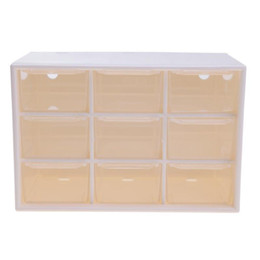 Wholesale clear organizer drawers - 9 Grids Clear Wall Drawer Dust Proof Needle Ornaments Debris Cabinets Lattice Storage Box Container Desktop Office Organizer