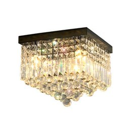 LED ceiling crystal chandelier lamp rectangular modern porch lamps creative new crystal chandelier lightings corridor aisle crystal lights