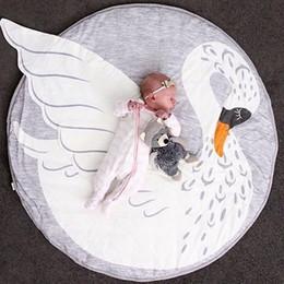 Argentina Vieeoease Esteras del bebé Diseño de cisne de dibujos animados lindo 2018 INS Primavera Moda algodón niños Mat 95cm HX-405 Suministro