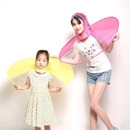 Wholesale raincoat rain hat - Creative Umbrella Hat Cap Fishing Raincoat Headwear Waterproof Women Rain Umbrella Paraguas mujer Parasol guarda chuva invertido