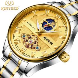90e8508b1e5 KINYUED Esqueleto Mecânico Automático Relógio de Luxo Homens Relógio À Prova  D  Água Moda Casual Relógios Esportivos Relogios Masculino kinyued promoção