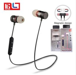 Wholesale Earphones Sport Running - M9 Magnet Metal Sports Bluetooth Headset V4.2 Stereo Waterproof Sweat-proof Running GYM Sport Earphone With Mic For Mobile Phone Calls