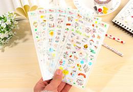 Kawaii telefonaufkleber online-Kawaii sonnigen Tag Leben Aufkleber Planer Journal DIY Scrapbook Tagebuch Telefon Dekoration Notebook Ablums dekorative