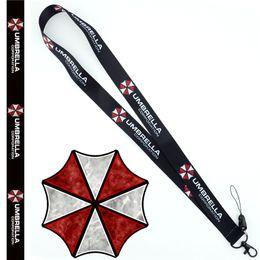 2019 anneau de sangle de cou Resident Evil Umbrella Neck Strap Lanyard Mobile Téléphone Strap ID Badge Titulaire Corde Porte-clés Anneaux de cosplay Accessoires Cadeau anneau de sangle de cou pas cher