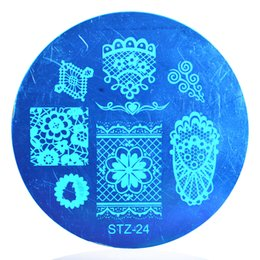 Wholesale Laced Nail Stamp Designs - China plate Suppliers 1PCS NEW Lace&Flower Sexy Designs Art Stamp Stamping Templates Fashion Women Nail Plates Polish DIY Tools STZ24