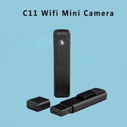 Wholesale Motion Detection Pen - C11 Mini Camera Full Hd 1080P Pen Camera Night Vision Motion Detection Sens Mini Dvr Wi-Fi Smartphone App Review H.264