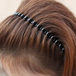 Wholesale mens head bands - Hot 1PC Mens Women Styling Tools Unisex Black Simple Wavy Head Hoop Band Sport Headband Hairband Hair accessories