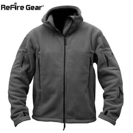 Wholesale polar pink - Winter Military Tactical Fleece Jacket Men Warm Polar Army Clothes Multiple Pocket Outerwear Casual Thermal Hoodie Coat Jackets