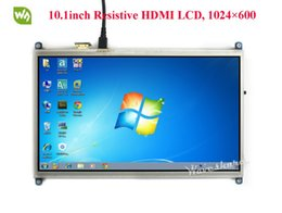 resolución de pantalla Rebajas Pantalla táctil resistiva Waveshare 10.1 pulgadas HDMI LCD Pantalla de alta resolución de 1024 * 600 diseñada para cualquier versión de Raspberry Pi