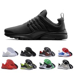 Wholesale Fine M - Original 2017 Air Presto Running Shoes Fine Mesh Breathable Air Presto Blackout Cheap Sneaker Red Navy Blue Triple White Black Fall Olive